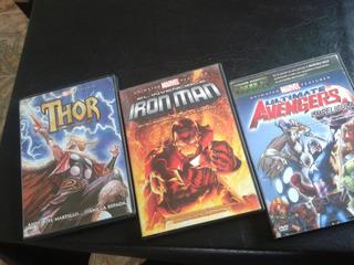 Avengers-thor-iron Man-coleccion-peliculas Animadas-dvd