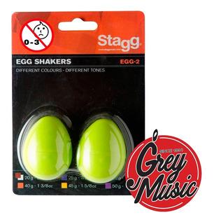 Percusión Tipo Shakers Huevitos Color Verde 35grs Seg2gr