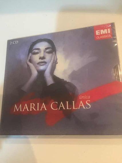 Cd Maria Callas Única Duplo Com Luva Lacre Fábrica, Original