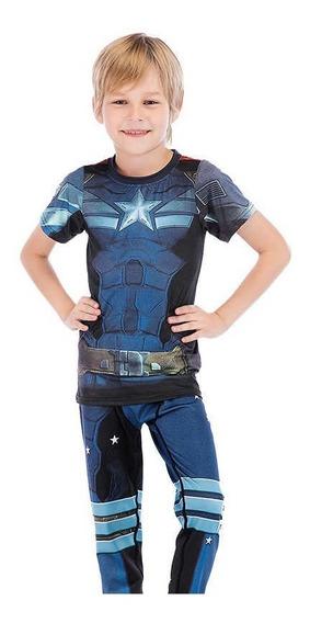 Traje Niño Capitan America Marvel Avengers Superheroe Heroe
