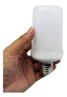 Lampara Luz Led Efecto Fuego 9w Bajo Consumo Decoracion