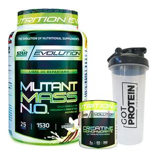 Mutant Mass 1,5 Kg + Creatina 300g + Vaso Star Nutrition