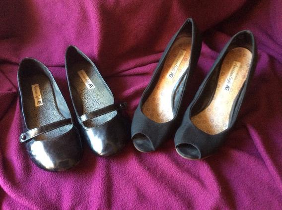 Zapatos 1 Par Chatitas 1 Par Taco Chino American Eagle 381/2
