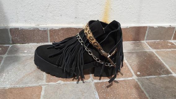 Zapatos Botas Botinetas Texanas Num 38 De Gamuza Taco Moda