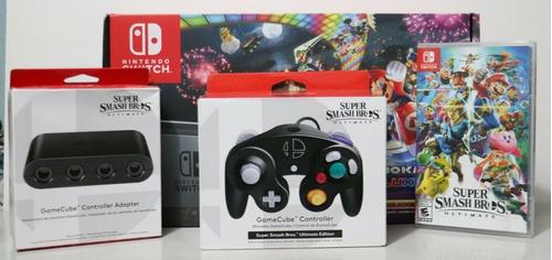 Nintendo Switch Mario Kart 8 Deluxe Console &super Smash Bro