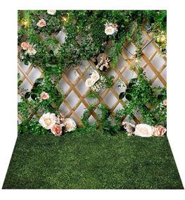 Fundo Fotográfico Newborn Treliça Floral 2,2x1,5m - Fdm-03
