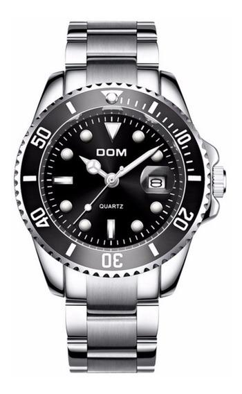 Relógio Masculino Dom Original Quartzo Preto A Prova D