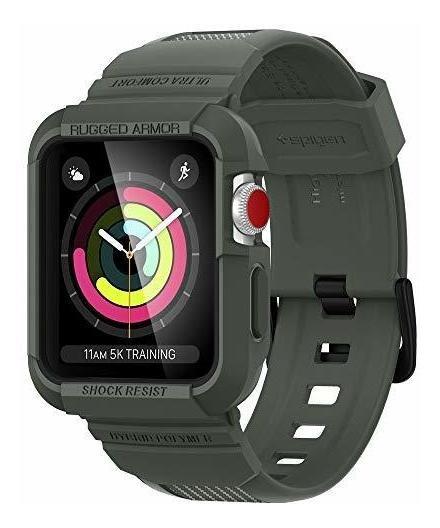 Spigen Rugged Armor Pro Diseñado Para Apple Watch Band Con E