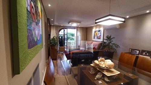 Imagem 1 de 27 de Apartamento Com 2 Dormitórios À Venda, 119 M² Por R$ 450.000,00 - Itararé - São Vicente/sp - Ap5768