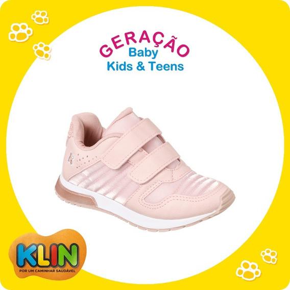 Tênis Infantil Baby Walk Cor Rosa Klin - 22 Ou 24 -20984