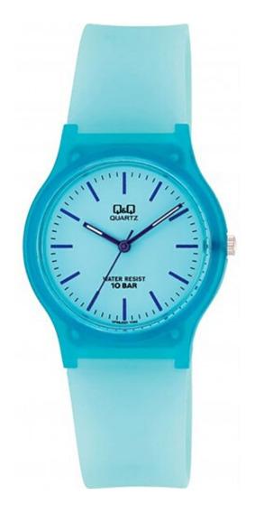 Relógio Infantil Azul Q&q Ponteiros Prova D