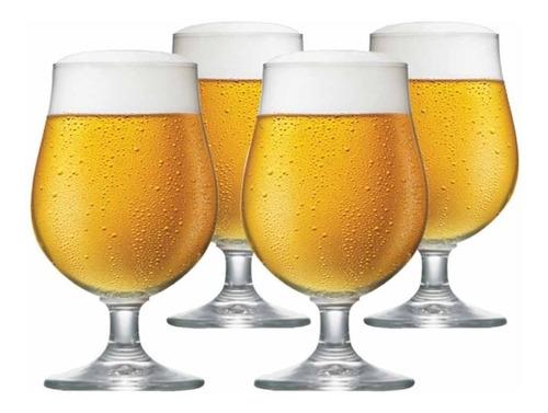 Imagem 1 de 3 de Joga Taças Ritzenhoff Cristal Cerveja Bock 380ml 4 Peças