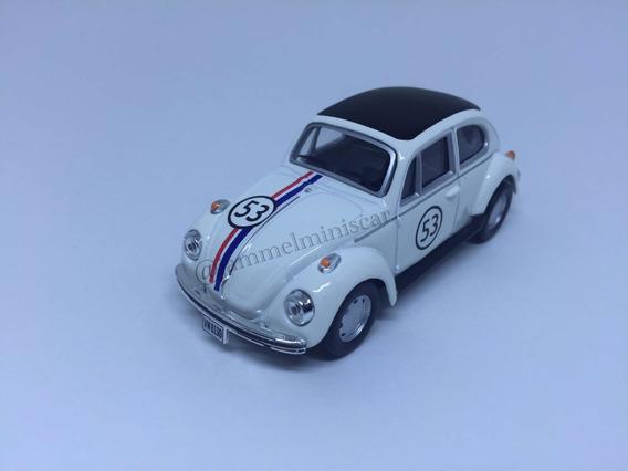 Miniatura Volkswagen Fusca Herbie Beetle 1/43 Cararama