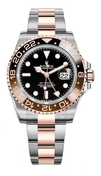 Reloj Rolex Gmt Master 2 Ii Rootbeer Bi Tono Caja 44mm R580