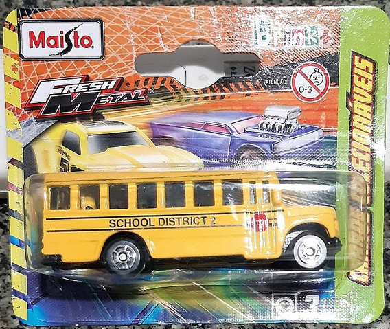 School District 2 Onibus Escolar American Fresh Metal Maisto