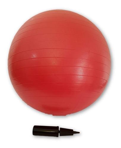 Imagen 1 de 3 de Pelota Pilates 75 Cms  C/inflador Peso Pelota 1250 Grs