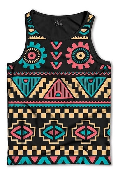 Regata Tribal Vintage Camiseta Regata Masculina