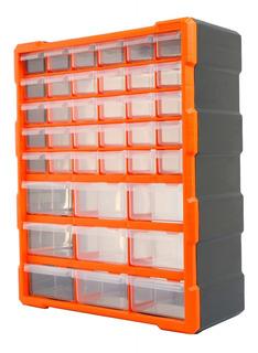 Caja Plástica Tactix Gavetero Con 39 Cajones Organizador