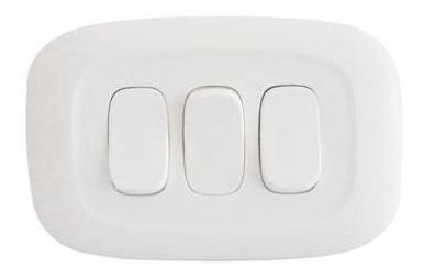 Interruptor Gálica 2 Triple Blanca Ref:gl2-111b