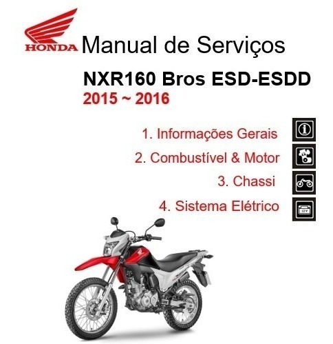 Manual De Serviços Nxr160 Bros 2015/2016 - Pdf
