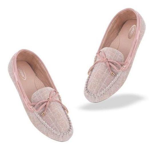 Flats De Dama Casual Shosh Id 829388 Textil Rosa