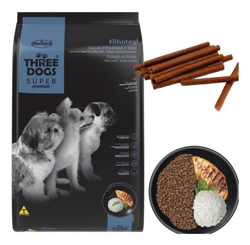 Imagen 1 de 5 de Three Dogs Cachorro Super Premium Raza Pequeña 1 Kg Y Regalo