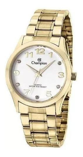 Relogio Feminino Champion Dourado Passion Cn29070h