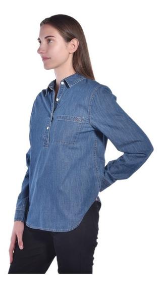 Camisa Nautica Azul 93w108 Mujer