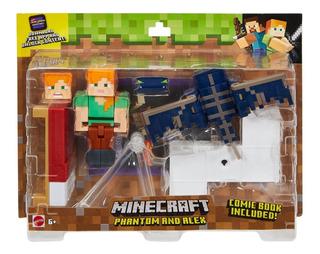 Minecraft - Muñecos Articulados - Mattel - Phantom Y Alex