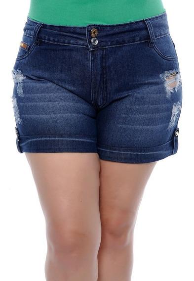 Oferta De 3 Shorts Jeans Plus Size Feminina Bermuda Promoção