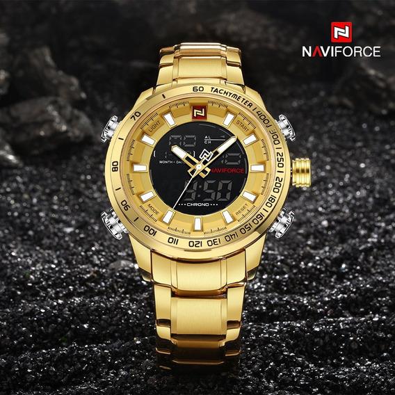 Relógio Masculino Original Naviforce Militar Luxo Aç Barato