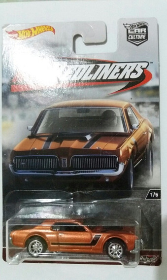 Hot Wheels Mercury Cougar 68 1/64 Peneus De Borracha