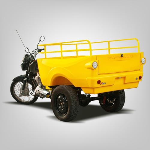 Triciclo De Carga Fusco C - Caçamba Polietileno - Faz 30km/l