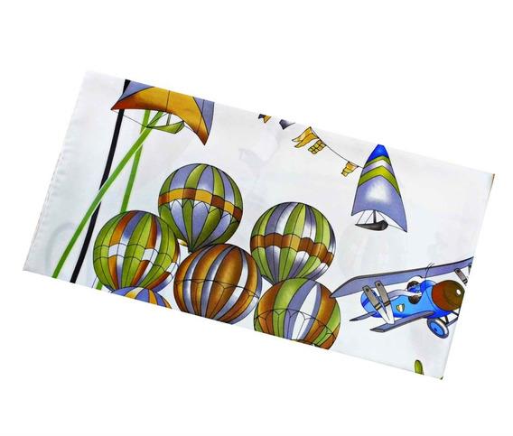 Lenço Seda Pura Balões Verdes - 90x90- Italy