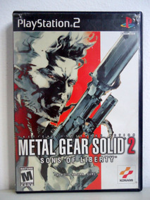 Ps2 Jogo Metal Gear Solid 2 Sons Of Liberty