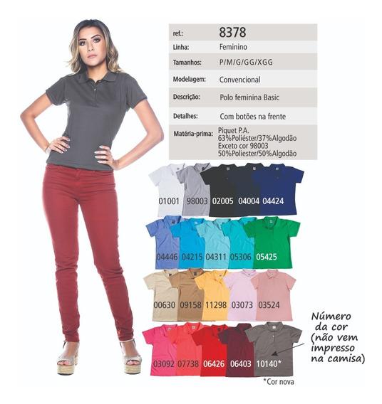 Camisa Pólo Feminina Sem Bolso - Ref. 8378 (kit 3 Peças)