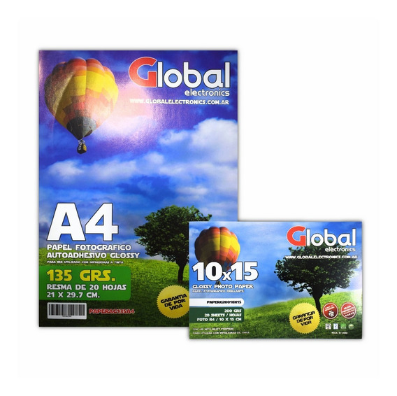 Papel Fotografico Autoadhesivo Sticker Glossy A4 X 100 Hojas