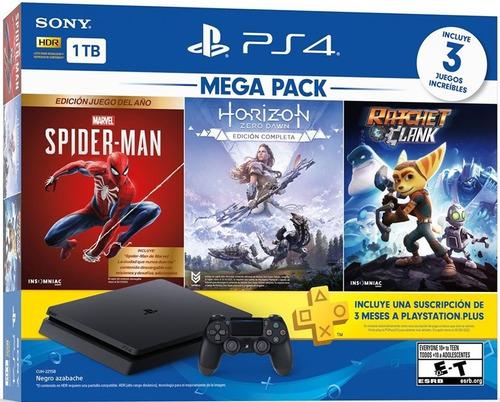 Consola Ps4 Slim De 1tb +3 Juegos +plus 3 Meses