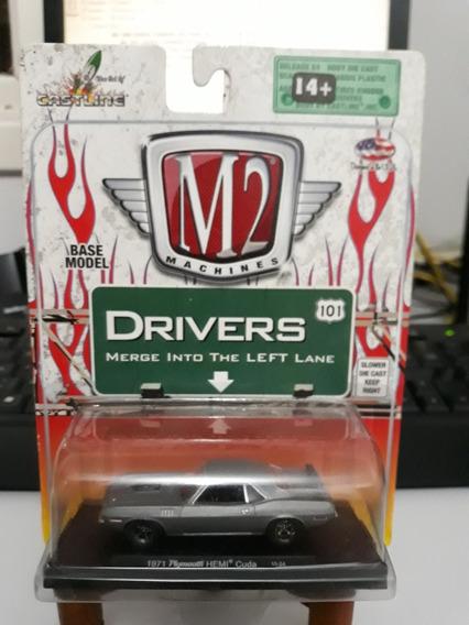 Miniatura M2 Machines Plymouth Barracuda 1971 1/64 Loose