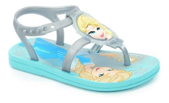 Sandália Baby Frozen Forever Azul Prata - 25988