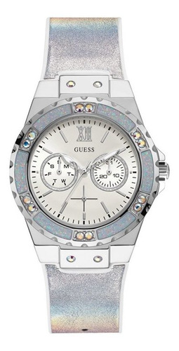 Relógio Guess Feminino Prata Silicone Gw0042l1