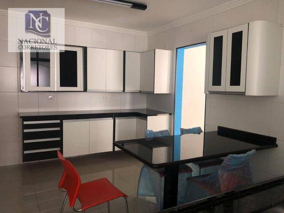 Apartamento Com 3 Dormitórios Para Alugar, 130 M² Por R$ 2.500,00/mês - Jardim Bela Vista - Santo André/sp - Ap10278