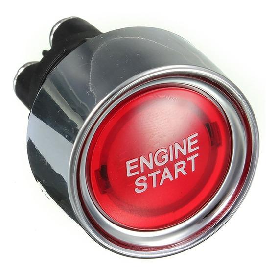 Start Engine Botão De Partida Com Led Iluminado Universal