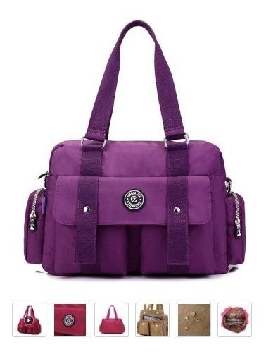 Bolsa Grande Repelente Al Agua Shoulder Bag Crossboby Bag