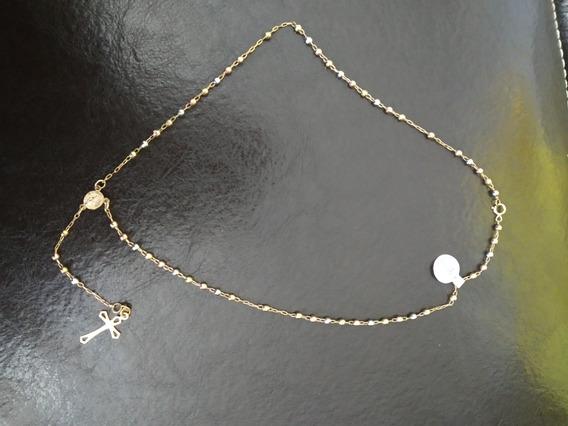 Collar Rosario Oro Florentino 10k