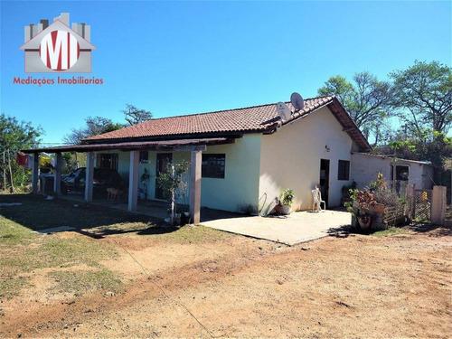Linda Chácara Com 3 Dormitórios, Pomar, Horta E Jardim, À Venda, 1570 M² Por R$ 280.000 - Zona Rural - Pinhalzinho/sp - Ch0747