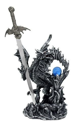 Enfeite Mini Espada Dragão Decorativo