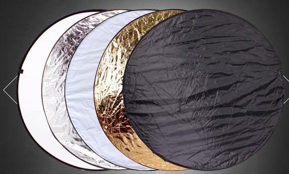 Rebatedor Refletor Difusor Circular 5 Em 1 60cm Foto Vídeo