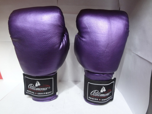 Guantes De Box Brillosos Purple Palomares Genuino  Fpx