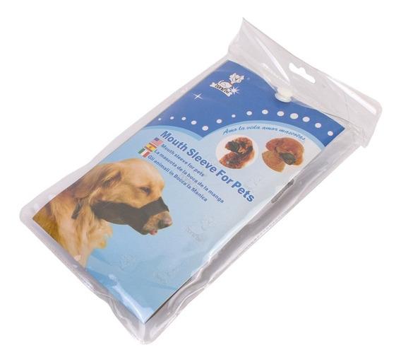 Kit C/ 3 Focinheira Nylon Cachorro Regulável Tamanhos 3-4-6